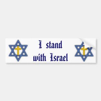 Adesivo Para Carro Apoio judaico cristão para Israel