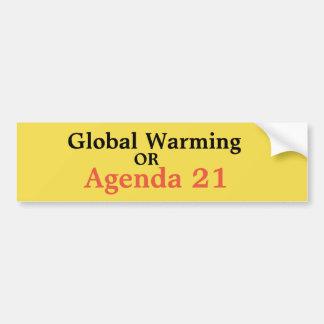 Adesivo Para Carro Aquecimento global ou agenda 21