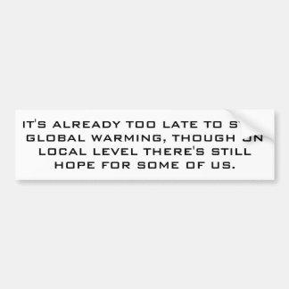Adesivo Para Carro Aquecimento global para realistas