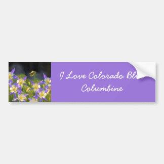 Adesivo Para Carro Aquilégia azul de Colorado
