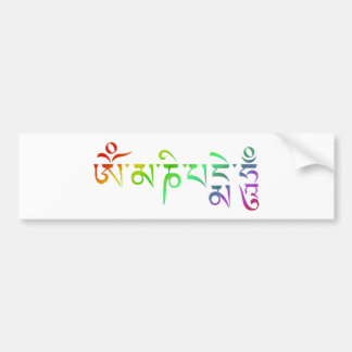 Adesivo Para Carro Arco-íris tibetano da mantra do zumbido do OM Mani