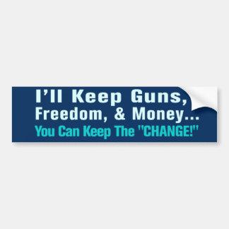 Adesivo Para Carro Armas, liberdade, e autocolante no vidro traseiro