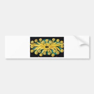 Adesivo Para Carro arte amarela da explosão da flor