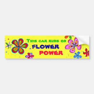 Adesivo Para Carro Arte de flower power, autocolante no vidro