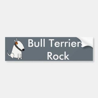 Adesivo Para Carro Arte engraçada do cão de bull terrier