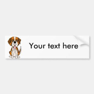 Adesivo Para Carro Arte engraçada do cão de filhote de cachorro de St