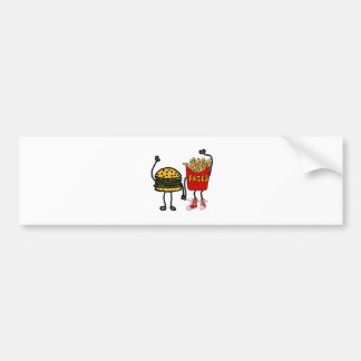Adesivo Para Carro Arte engraçada do Hamburger e dos desenhos