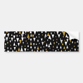 Adesivo Para Carro Arte moderna do triângulo - ouro preto