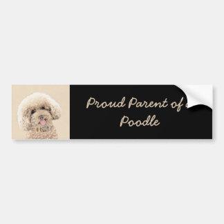 Adesivo Para Carro Arte original de pintura do cão da caniche