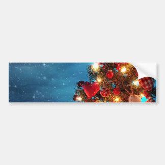 Adesivo Para Carro Árvore de Natal - decorações do Natal - flocos de