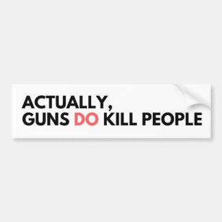 Adesivo Para Carro As armas matam pessoas - autocolante no vidro