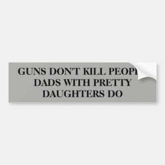 Adesivo Para Carro As armas não matam pessoas…