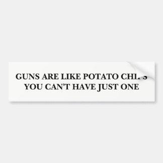 Adesivo Para Carro As armas são como microplaquetas de batata