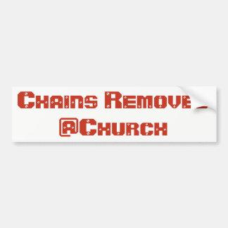 Adesivo Para Carro As correntes removeram a etiqueta do @Church