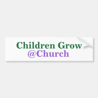 Adesivo Para Carro As crianças crescem a etiqueta do @Church