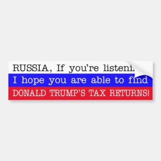 Adesivo Para Carro As declarações de rendimentos Rússia de Donald