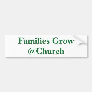 Adesivo Para Carro As famílias crescem a etiqueta do @Church