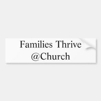 Adesivo Para Carro As famílias prosperam etiqueta do @Church