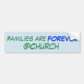 Adesivo Para Carro As famílias são para sempre etiqueta do @Church