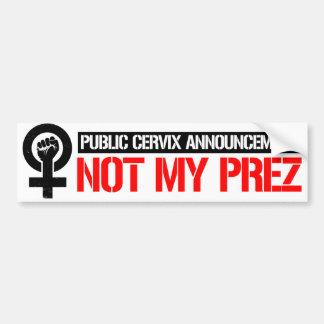 Adesivo Para Carro As feministas resistem - anúncio público da cerviz