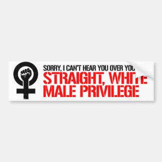Adesivo Para Carro As feministas resistem - pesaroso eu não posso