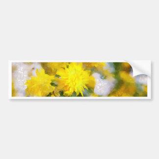 Adesivo Para Carro As flores amarelas na cidade jardinam no dia da