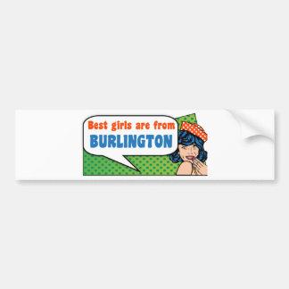Adesivo Para Carro As melhores meninas são de Burlington