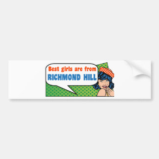 Adesivo Para Carro As melhores meninas são do monte de Richmond