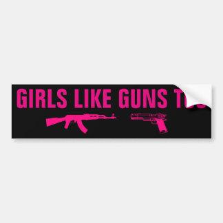 Adesivo Para Carro As meninas gostam de armas demasiado