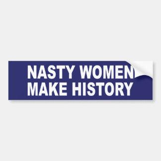 Adesivo Para Carro As mulheres desagradáveis fazem a história