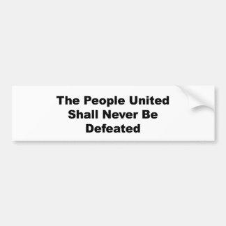 Adesivo Para Carro As pessoas unidas serão derrotadas nunca