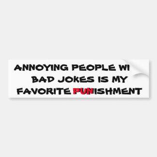 Adesivo Para Carro As piadas más são uma punição
