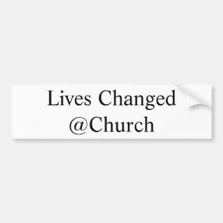 Adesivo Para Carro As vidas mudaram a etiqueta do @Church