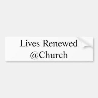 Adesivo Para Carro As vidas renovaram a etiqueta do @Church