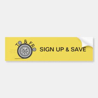 Adesivo Para Carro Assine acima e salvar o pára-choque