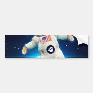 Adesivo Para Carro Astronauta do gato - gato do espaço - amante do