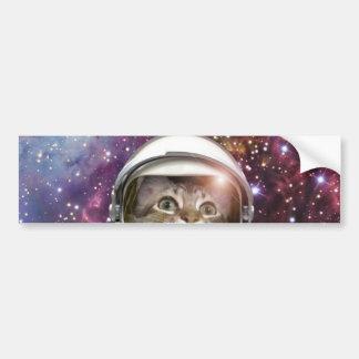 Adesivo Para Carro Astronauta do gato - gato louco - gato