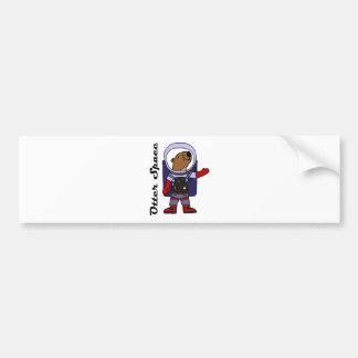 Adesivo Para Carro Astronauta engraçado da lontra de mar em desenhos