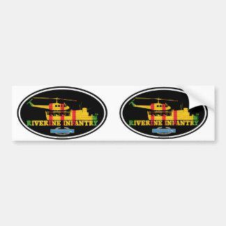 Adesivo Para Carro ATC Riverine de Vietnam da infantaria (H)