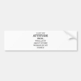 Adesivo Para Carro Atitude da família