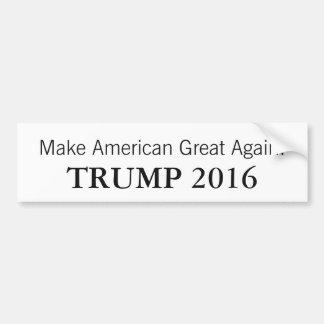Adesivo Para Carro Autocolante no vidro traseiro 2016 do presidente