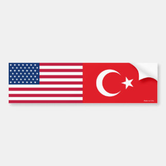 Adesivo Para Carro Autocolante no vidro traseiro americano & turco da