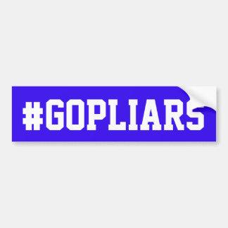 "Adesivo Para Carro Autocolante no vidro traseiro azul com ""#GOPLIARS"