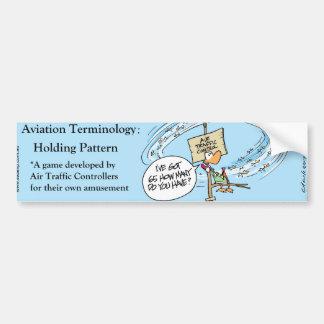 Adesivo Para Carro Autocolante no vidro traseiro cómico da aviação