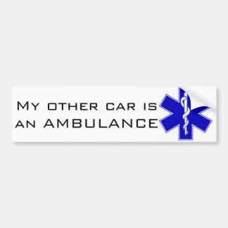 Adesivo Para Carro Autocolante no vidro traseiro da ambulância