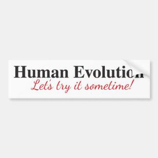 Adesivo Para Carro Autocolante no vidro traseiro da evolução humana