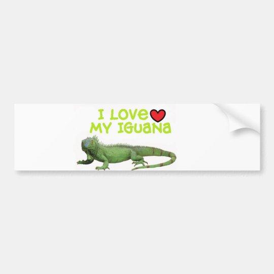 "Adesivo Para Carro Autocolante no vidro traseiro da iguana"" eu amo mi"