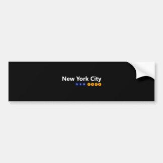 Adesivo Para Carro Autocolante no vidro traseiro da Nova Iorque, New