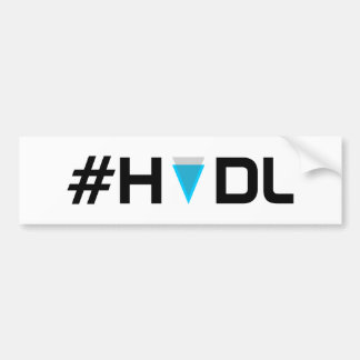 Adesivo Para Carro Autocolante no vidro traseiro da orla do #HODL