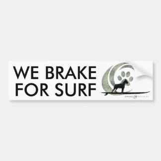 Adesivo Para Carro Autocolante no vidro traseiro da praia do cão